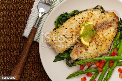 istock Baked Fish Fillet 628420350