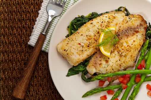 Baked Fish Fillet Stock Photo - Download Image Now