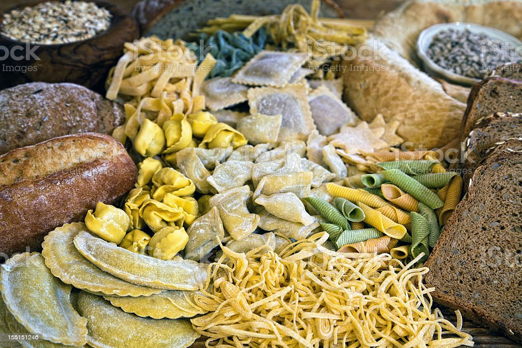 Baked goods and Pasta Still Life stock photo