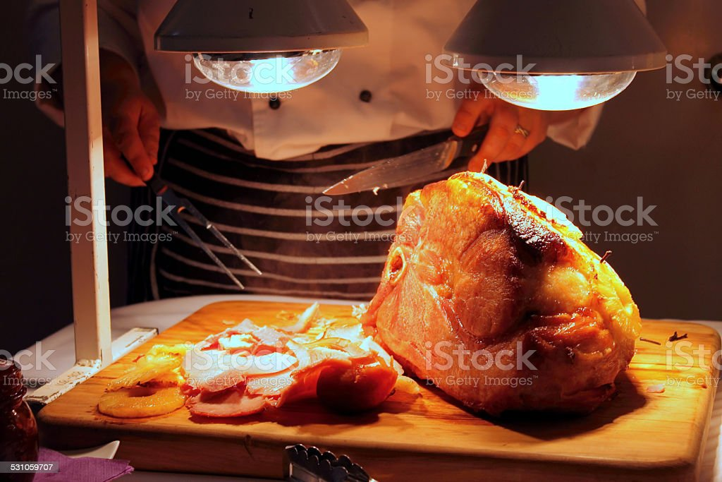 Baked Ham stock photo