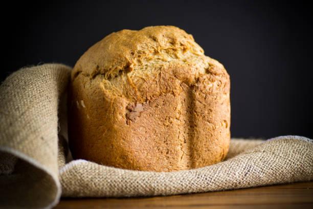 麵包機烤自製麵包圖像檔