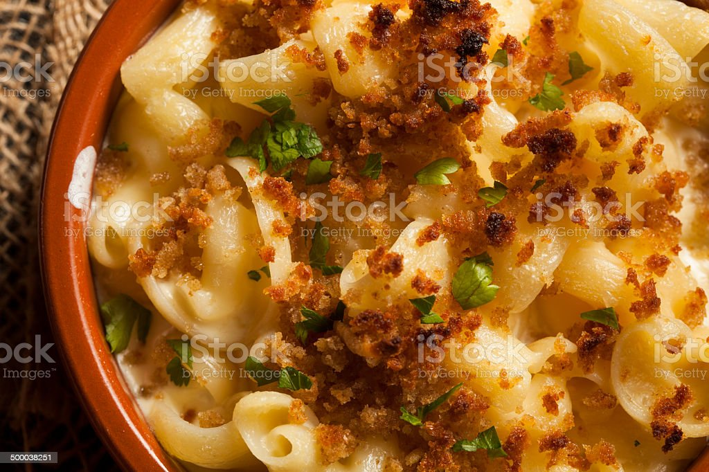Baked Homemade Macaroni and Cheese stock photo