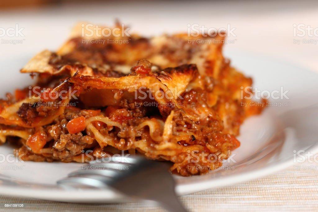 Baked Lasagna Bolognese zbiór zdjęć royalty-free
