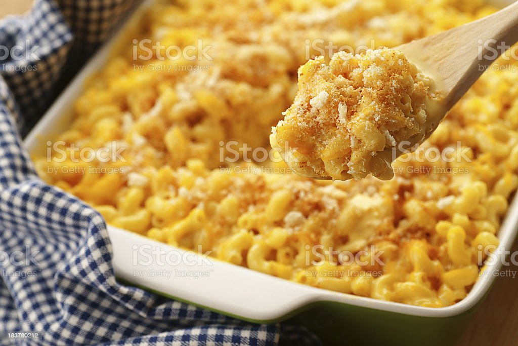 Baked Macaroni and Cheese stock photo