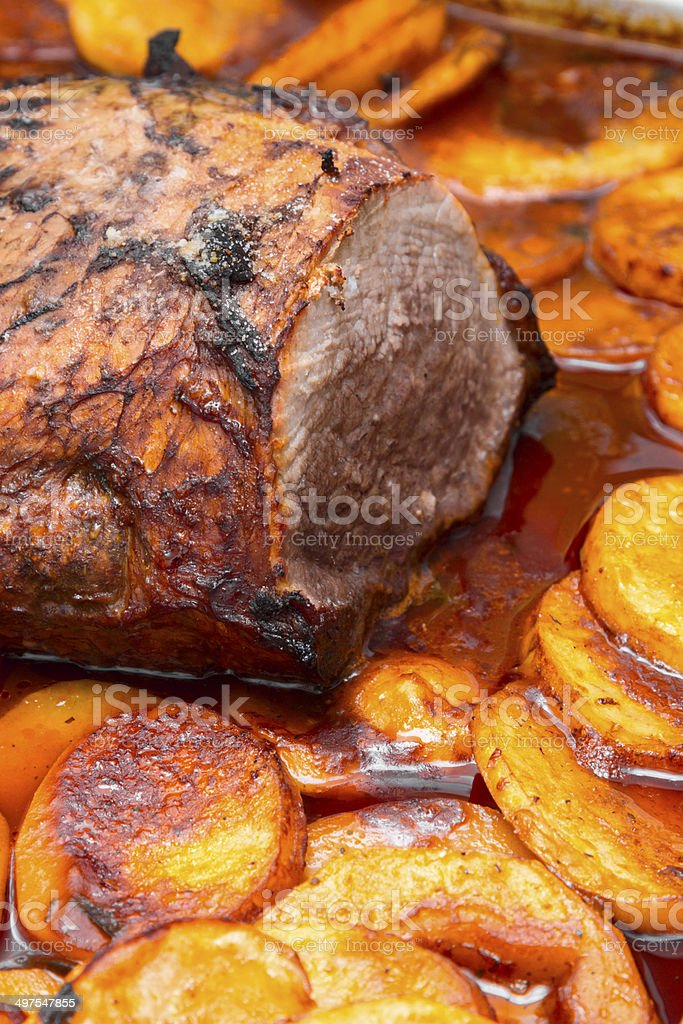 Baked meat royalty-free stock photo