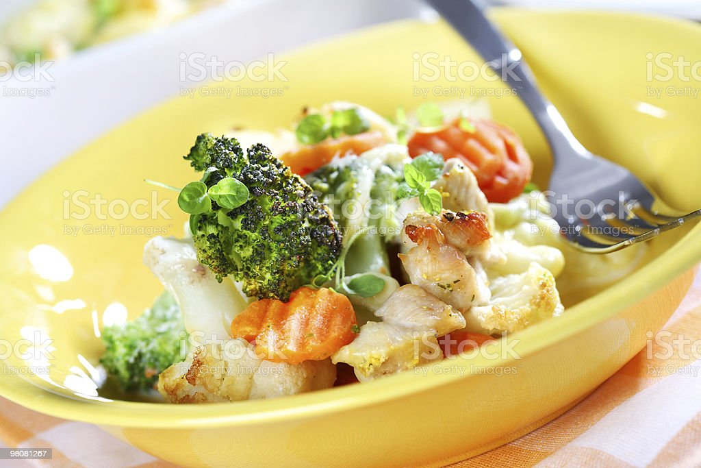 Baked mixed vegetable royalty-free stock photo