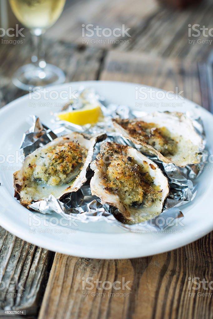 Überbackene Austern – Foto