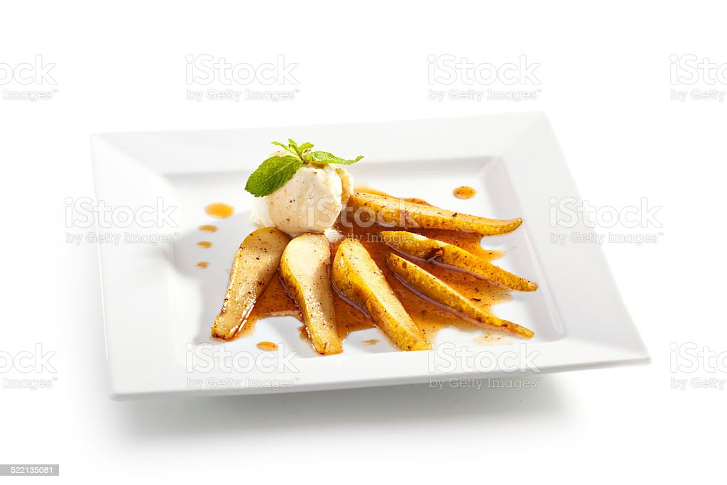 Baked Pear stock photo