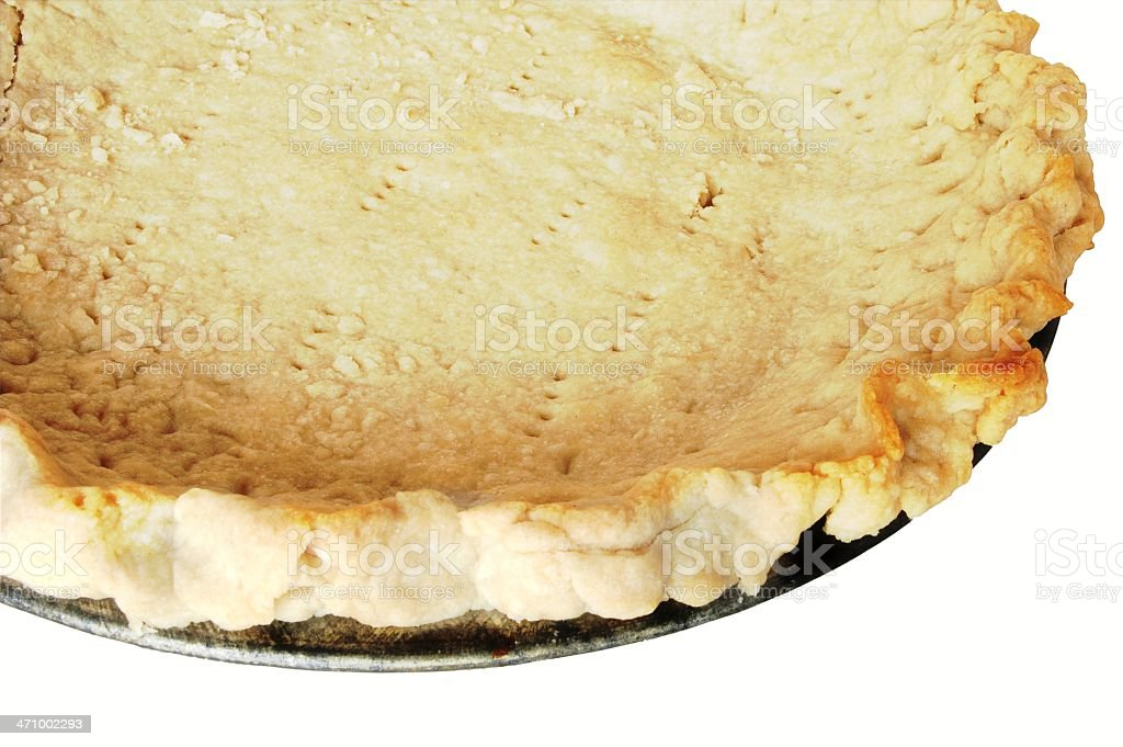 baked pie crust royalty-free stock photo