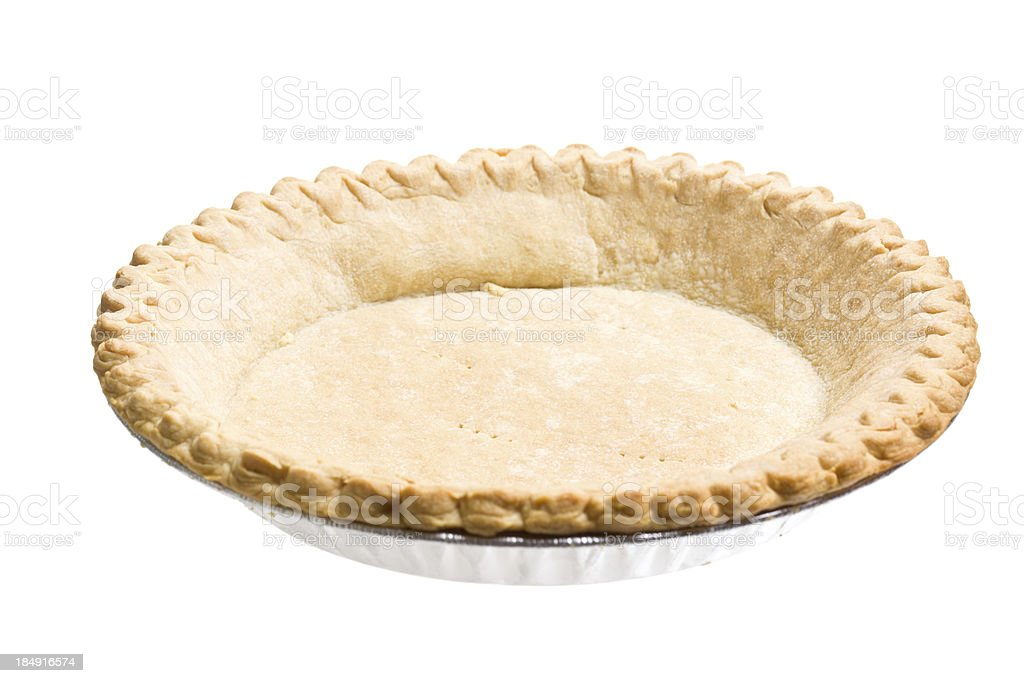 Baked Pie Shell stock photo