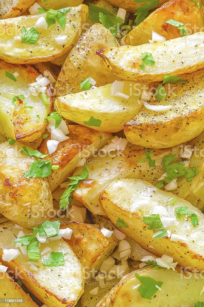 Baked potato background royalty-free stock photo