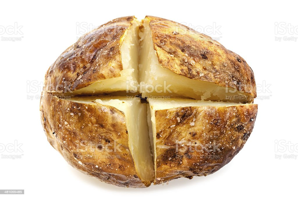 Baked Potato Isolated on White stock photo