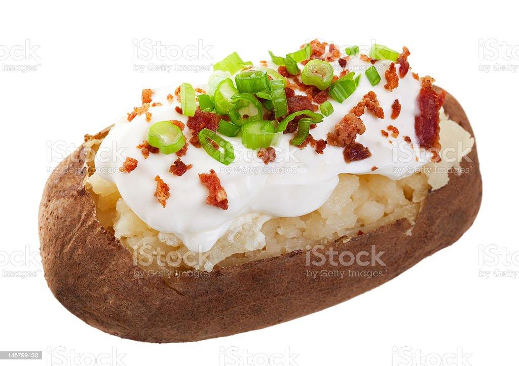 Baked Potato Loaded stock photo