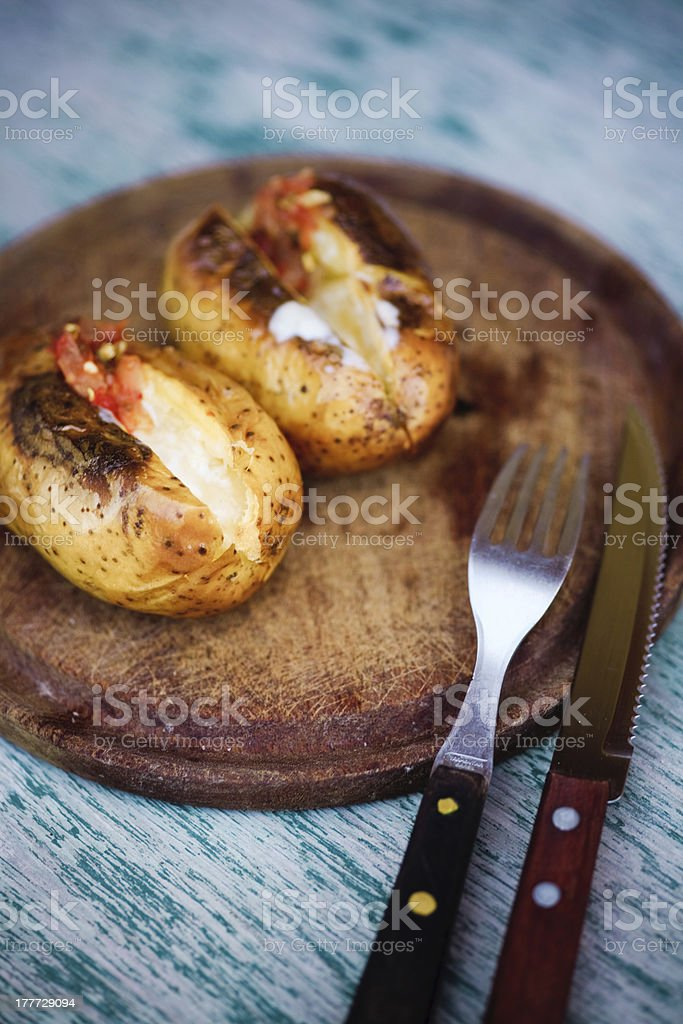 Baked Potato royalty-free stock photo