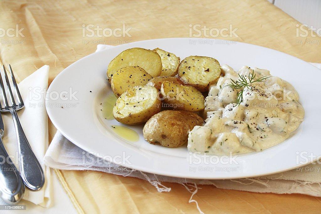 Gebackene Kartoffeln und Kohlrabi – Foto