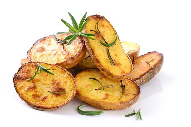 Überbackene Kartoffeln – Foto