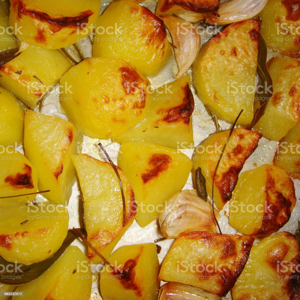 Baked potatoes royalty-free stock photo