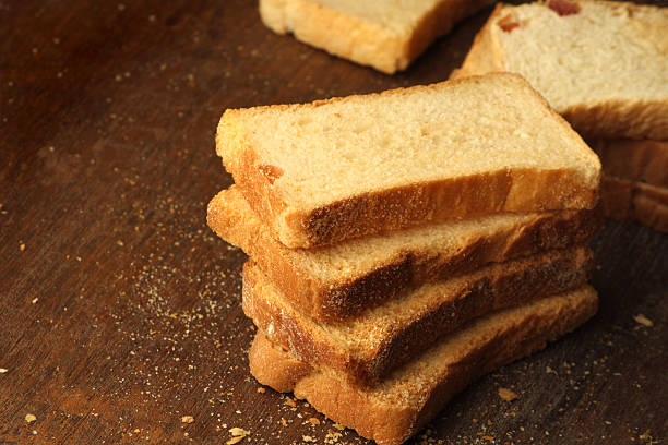 Baked  rusks stock photo
