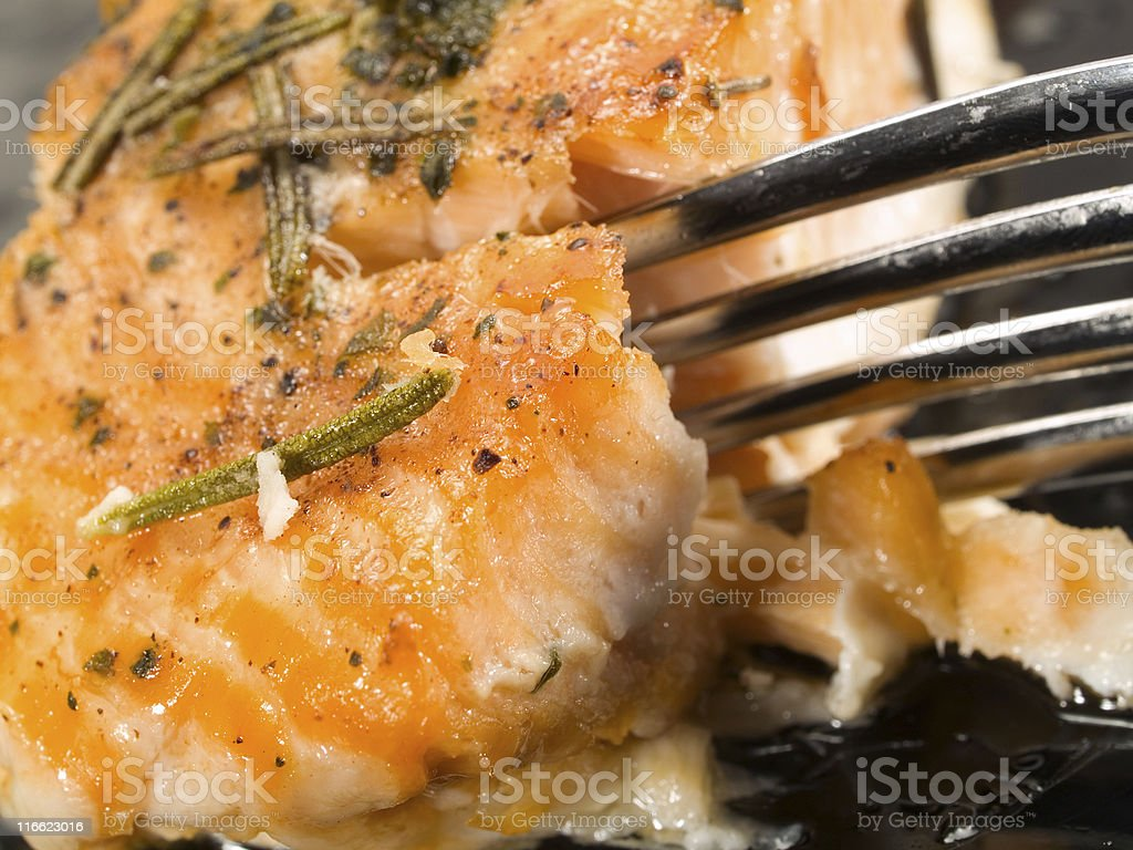 Baked Salmon royalty-free stock photo