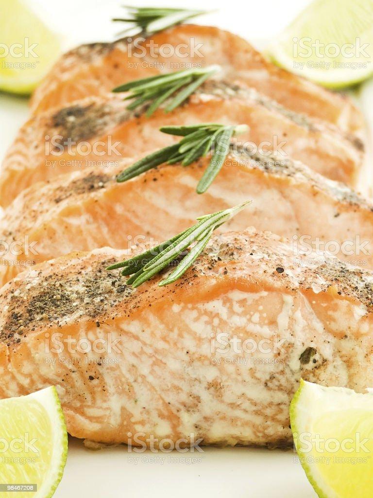 Baked salmon royalty-free stock photo