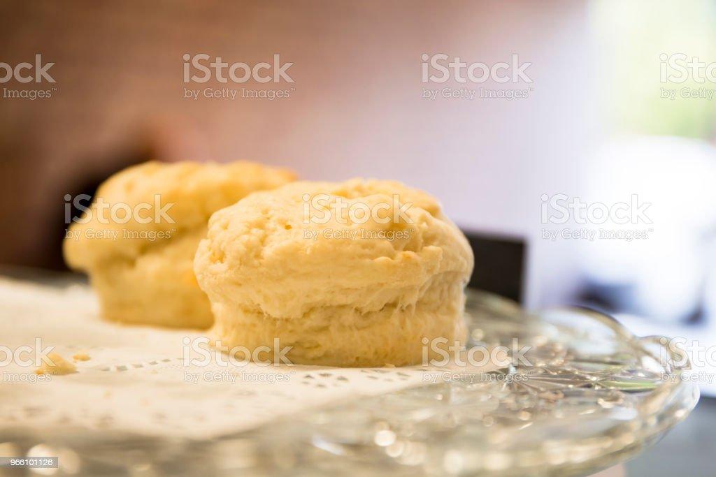 Baked Scones on the tray - Royalty-free Australia Stock Photo