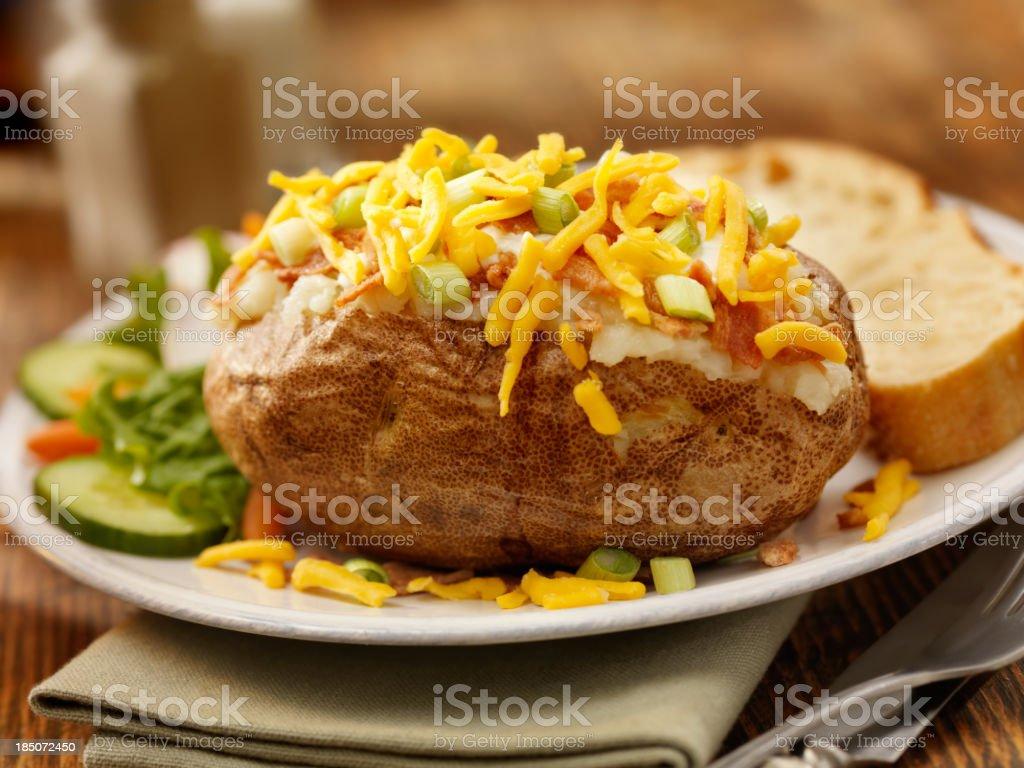 Baked Stuffed Potato stock photo