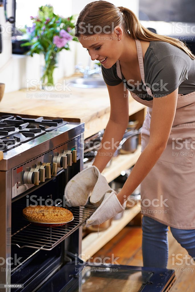 Baked to perfection stock photo