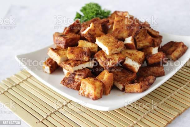 Tofu Al Forno - Fotografie stock e altre immagini di Alimentazione sana