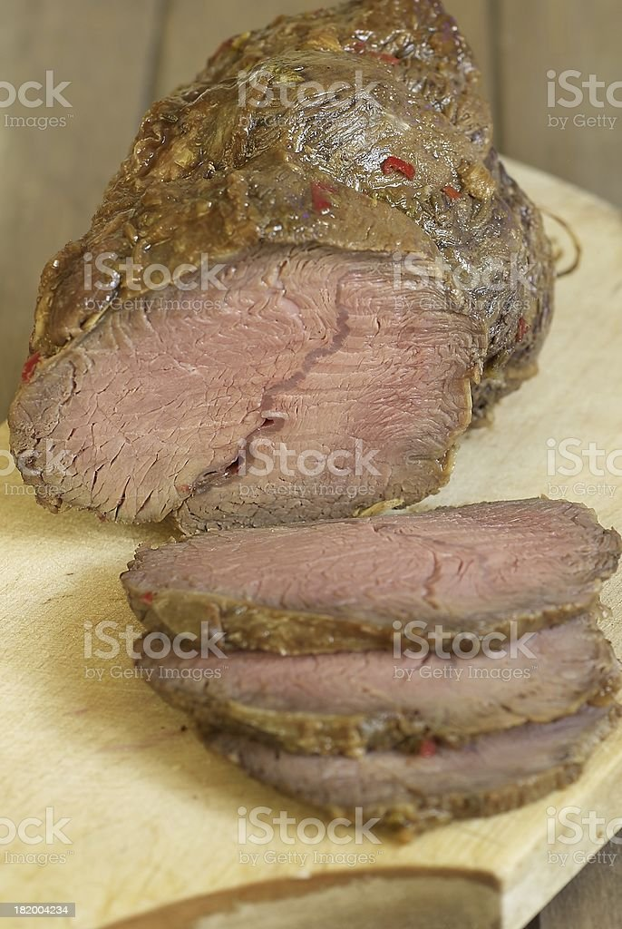 Baked veal royalty-free stock photo