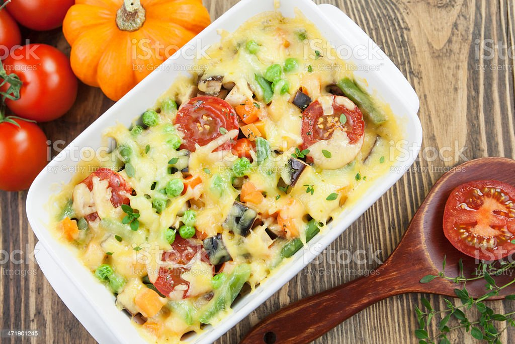 Baked vegetables royalty-free stock photo