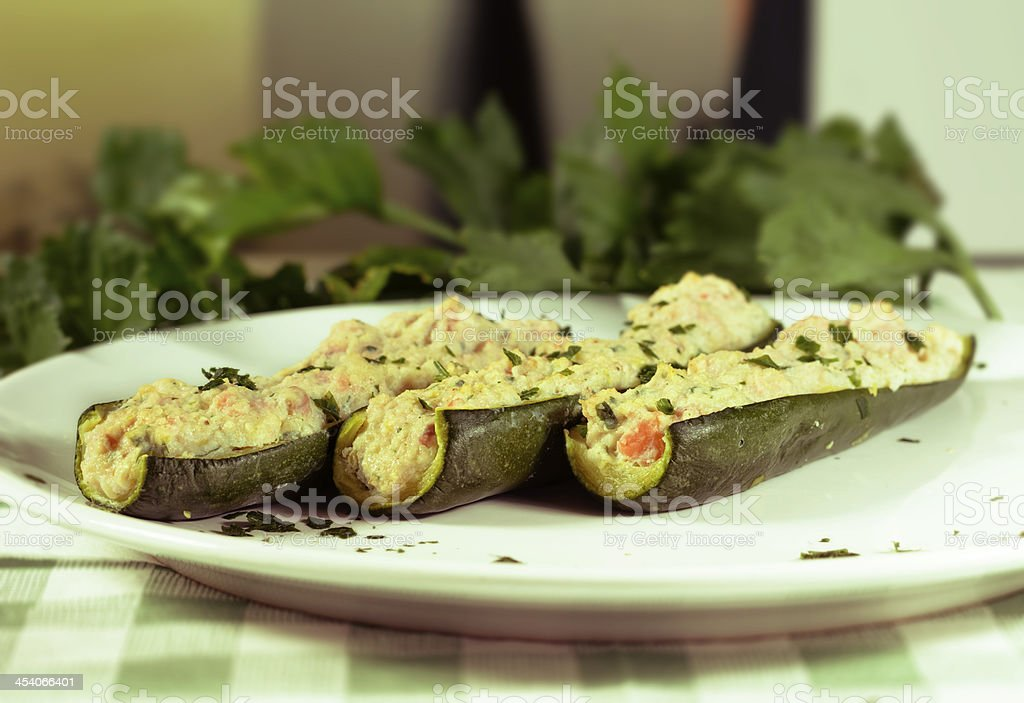 Baked zucchini II royalty-free stock photo