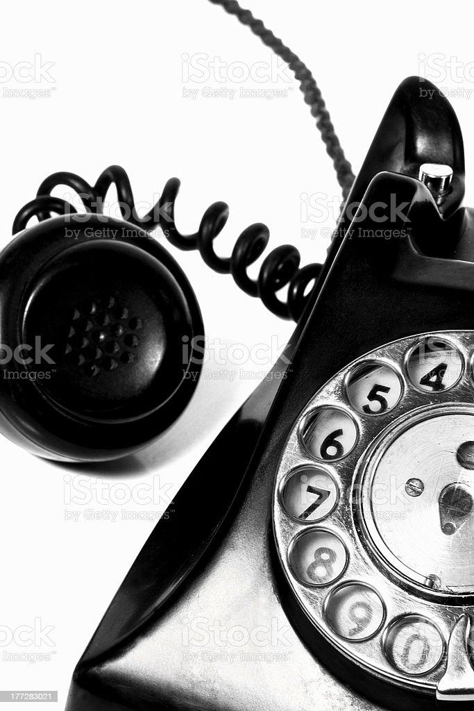 bakelite phone detail royalty-free stock photo