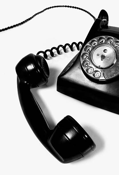 bakelite phone off the hook stock photo