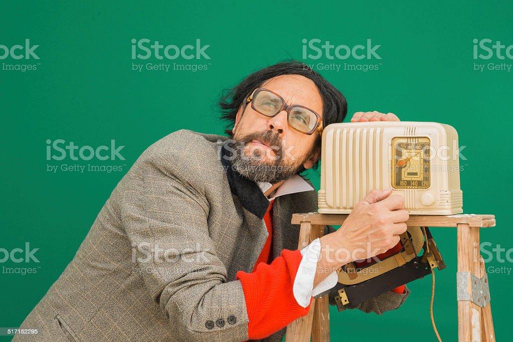 Baquelita Radio tonto - foto de stock