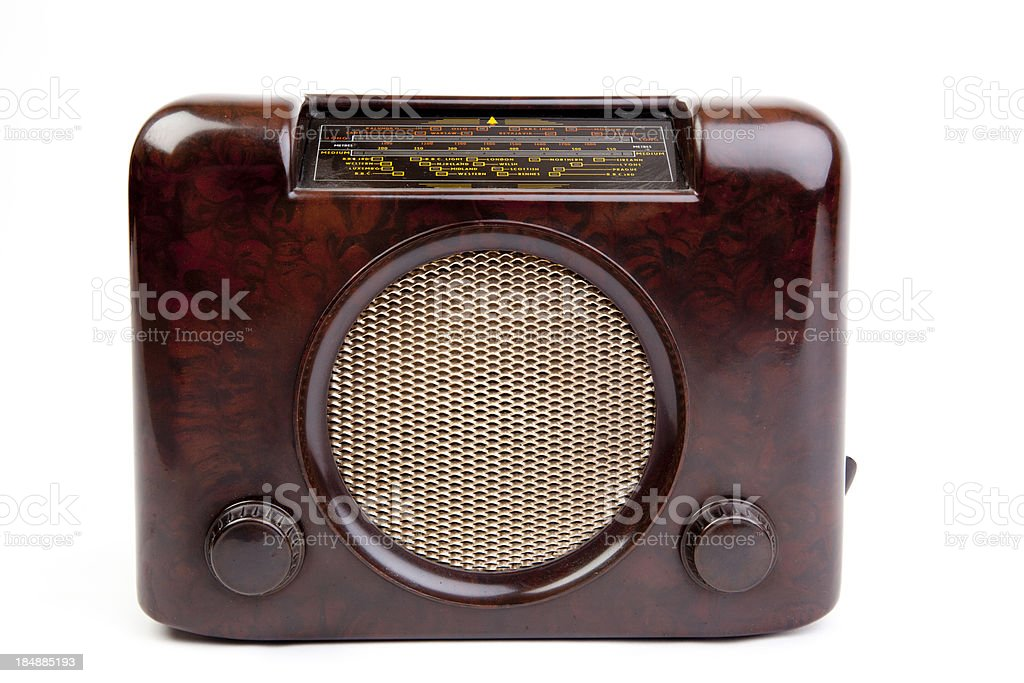 Bakelite radio royalty-free stock photo