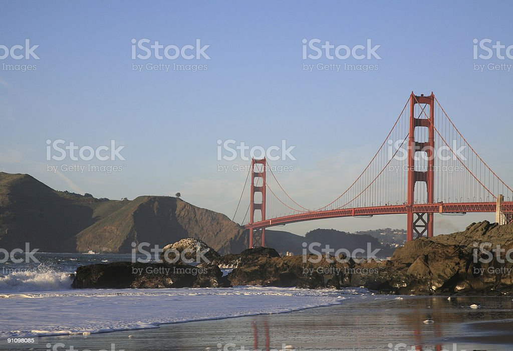 Baker Beach at the Golden Gate in San Francisco, California royalty-free stock photo