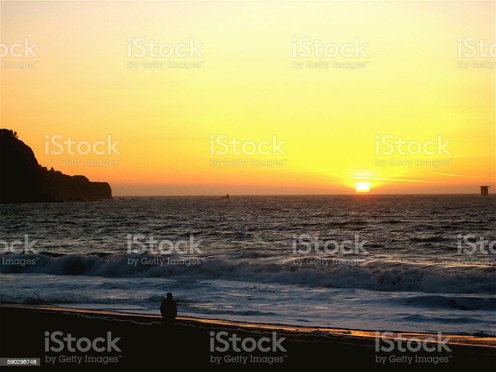 Baker Beach Sunset royaltyfri bildbanksbilder