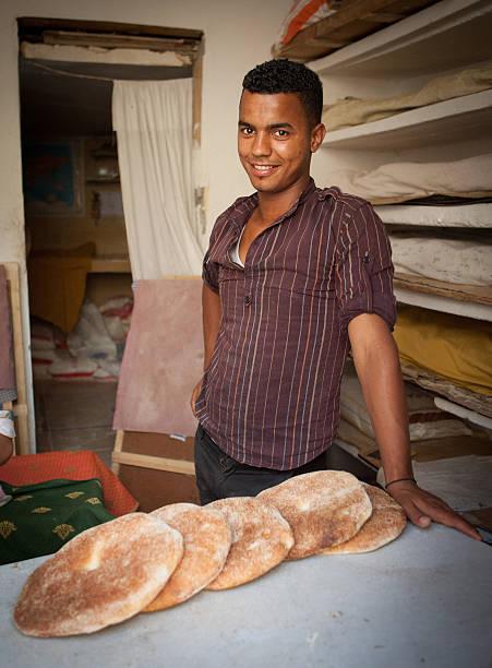 Baker in Fez Morocco stock photo