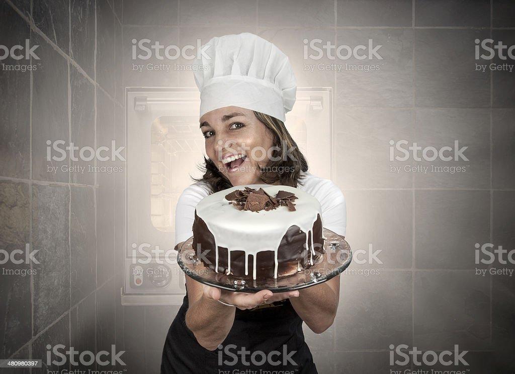 Baker lady royalty-free stock photo