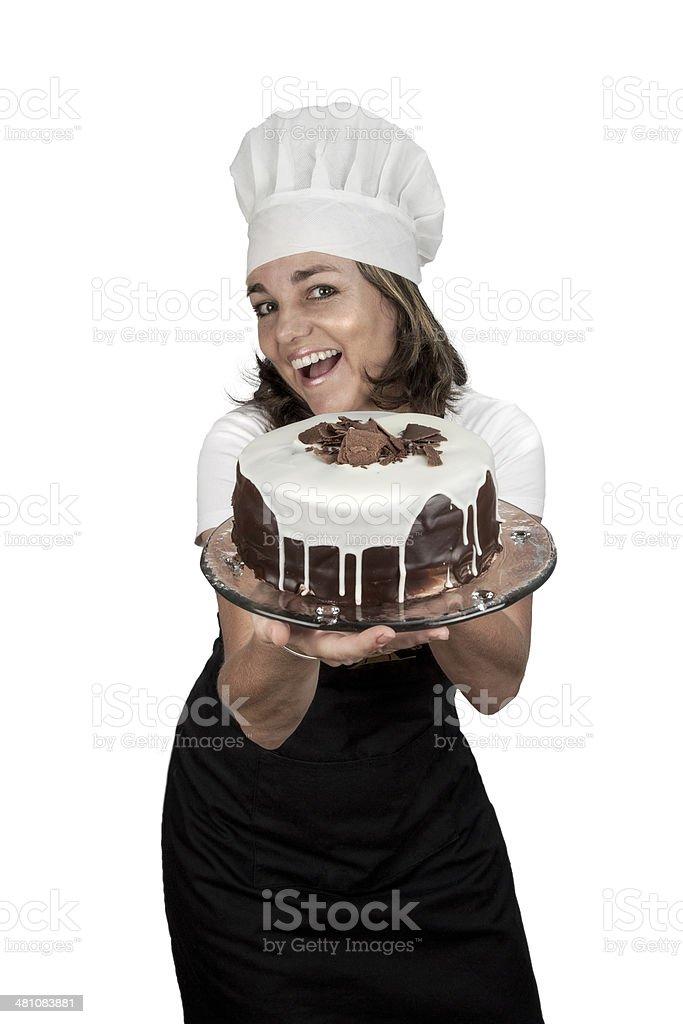 Baker lady stock photo