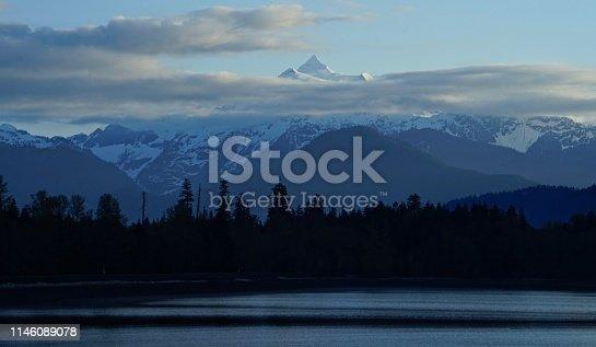 Northwest Washington's Cascade Range. North Cascades National Park/NW Edge. Mt. Baker-Snoqualmie National Forest. Mt. Shuksan After Sunrise.