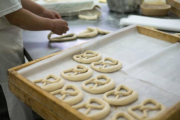 Baker, verspiegelten Breze – Foto