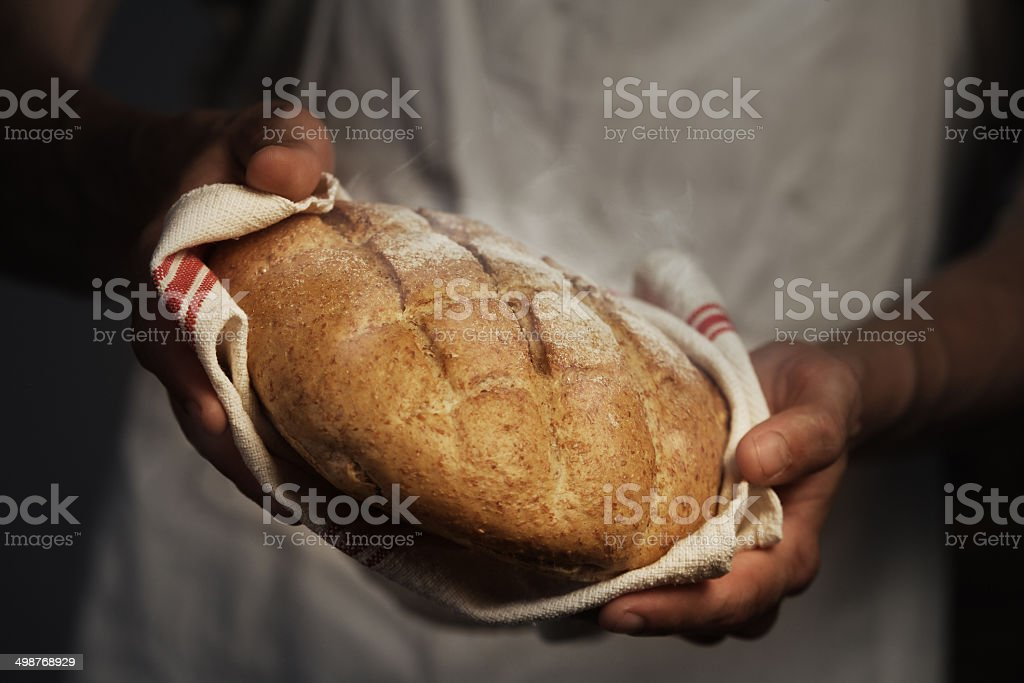 Baker man stock photo
