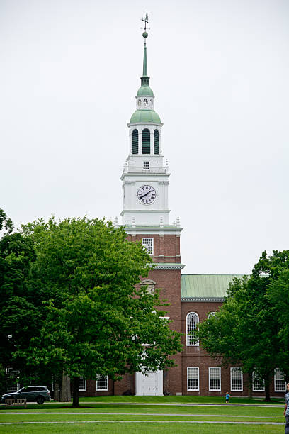Baker Memorial Library on the Dartmouth College Green stock photo