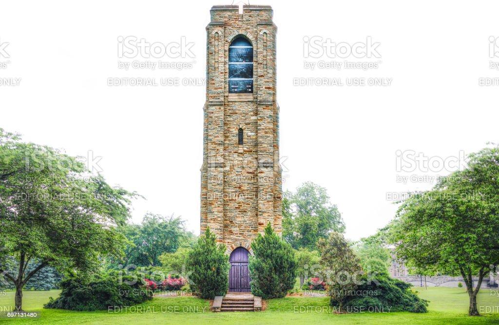 Baker Park Gazebo Joseph Dill Baker Memorial Carillon in Downtown city in Maryland stock photo