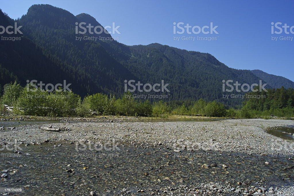 Baker River royalty-free stock photo