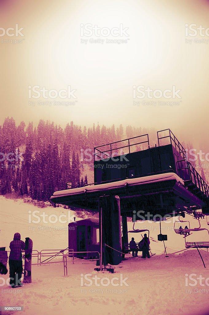 Baker - Snowboarding 4 royalty-free stock photo