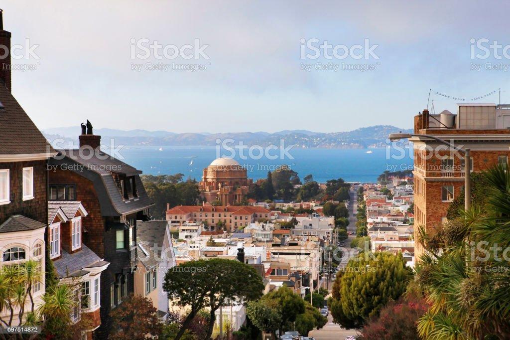 Baker street in San Francisco stock photo