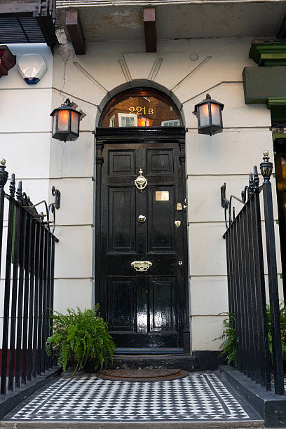 221b baker street - sherlock holmes stock photos and pictures