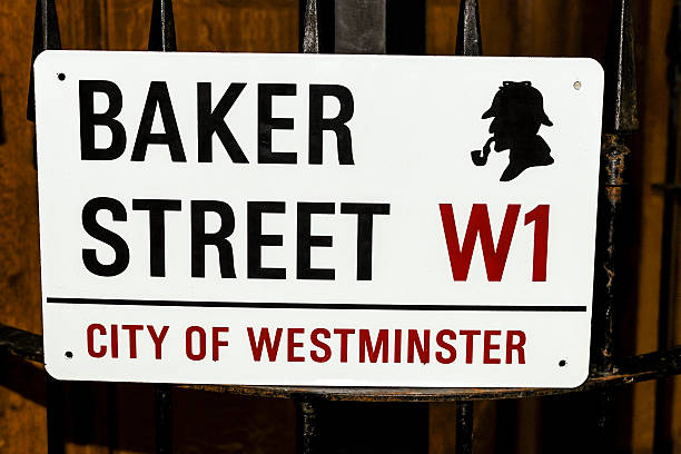 Baker Street sign in London, UK London, UK - October 19, 2008: Baker Street sign in London, UK sherlock holmes stock pictures, royalty-free photos & images